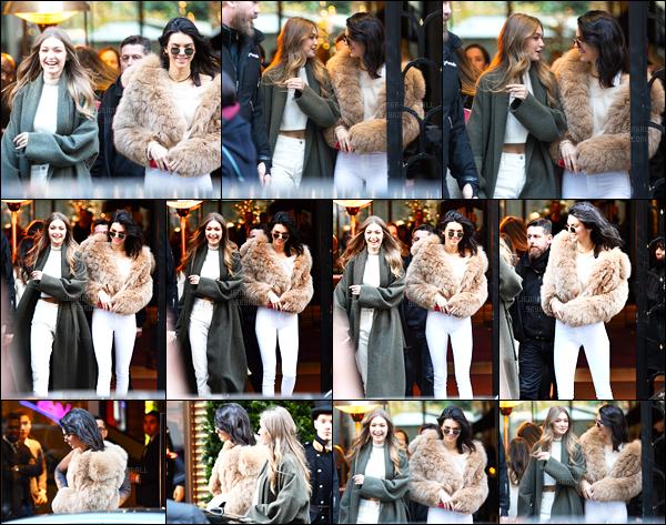 28.11.2016 ─ Kendall Jenner a été photographiée, alors, qu'elle quittait le Mandarin Hotel avec Gigi Hadid à Paris.On s'en douter, Kendall était en compagnie de sa meilleure amie, la mannequin Gigi Hadid. Concernant sa tenue, j'aime bien, c'est un top pour moi !