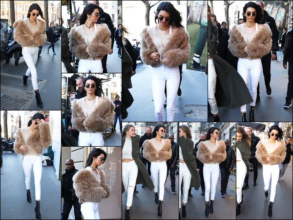 28.11.2016 ─ Kendall Jenner a été photographiée arrivant puis quittant le Gucci store, avec Gigi Hadid dans Paris.Toujours en compagnie de son amie notre belle brunette nous gâte au niveau des sorties après un moment sans de sortie. Toujours la même tenue.