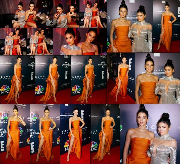 08.01.2017 ─ Kendall Jenner était présente, lors, du «18th Annual Post-Golden Globes Party», dans Beverly Hills.Kendall J. été en compagnie de sa petite s½ur, Kylie Jenner. Concernant sa tenue, je la trouve très jolie, c'est un gros top de ma part. Et vous, avis ?