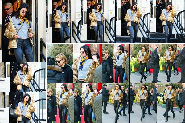 16.01.2017 ─ Kendall Jenner a été vue arrivant puis quittant What Goes Around Comes Around dans New-York C.La belle a ensuite été photographiée arrivant à l'appartement de Kanye, dans New-York City. Concernant sa tenue je ne suis pas fan de son manteau.