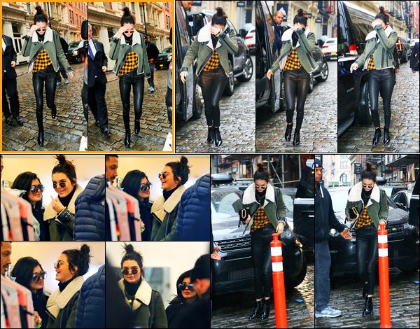 17.01.2017 ─ Kendall Jenner a été photographiée arrivant puis quittant Ovadia & Sons étant dans New-York City.Nous avons malheureusement peu de photos de cette sortie, et avec quelques une dans le magasin... Concernant sa tenue, c'est un top de ma part.