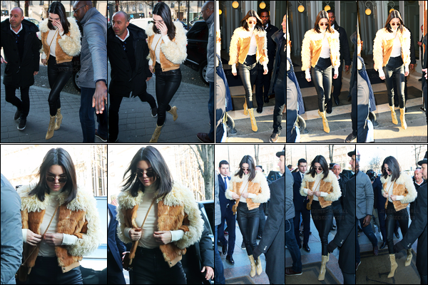 20.01.2017 ─ Kendall Jenner a été photographiée, arrivant, puis, quittant le Givenchy showroom étant dans Paris.Un peu plus tard, Kendall a été photographiée arrivant à son hôtel. Concernant sa tenue, c'est un beau top de ma part, j'aime beaucoup, et vos avis ?