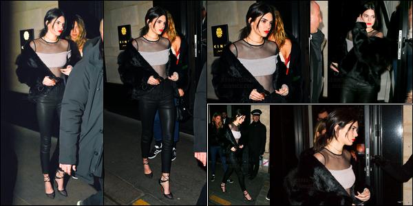 20.01.2017 ─ Kendall Jenner a défilé pour la marque Givenchy, pour Fall/Winter pour la fashion week dans Paris.Un peu plus tard, Kendall a été photographiée quittant le restaurant Kinugawa.. Je ne suis pas fan du défilé mais sa tenue du restaurant est un top !
