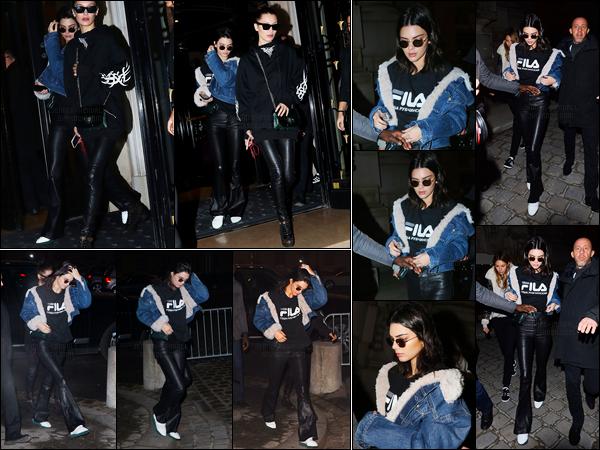 24.01.2017 ─ Kendall Jenner a défilé pour le styliste «Alexandre Vauthier» Spring/Summer pour la fashion week.Kendall était magnifique lors du défilé. Un peu plus tôt elle a quitté son hôtel puis après le défilé elle a été vue quittant le grand Palais. C'est un top !