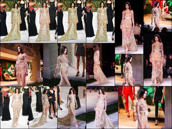 09.02.2017 ─ Kendall Jenner a défilé pour la marque « La Perla » collection automne/hiver pour la fashion week.Pour une fois je trouve que Kendall été magnifique lors du défilé, même le make up reste simple, j'aime.. C'est donc un gros top de ma part, avis ?!