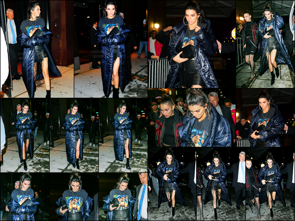 10.02.2017 ─ Kendall Jenner a été photographiée arrivant, puis, quittant le  «V Magazine», étant dans Manhattan.Journée chargée pour Kendall qui a ensuite été aperçue quittant l'appartement de Daniel Chetrit puis à une launch party pour retourner à son hôtel...