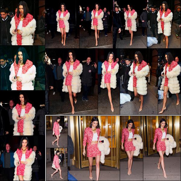 14.02.2017 ─ Kendall Jenner était présente à l'émission «The Tonight Show Starring Jimmy Fallon» à Manhattan.Un peu plus tôt, Kendall a été photographiée quittant son hôtel, puis après l'émission quittant les studios NBC, Manhattan. Concernant sa tenue, top !