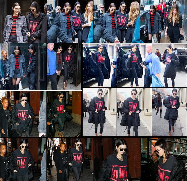 15.02.2017 ─ Kendall Jenner a défilé pour le styliste Michael Kors collection fall/winter étant dans New-York City.Après le défilé, Kendall a été photographiée le quittant pour se rendre à son hôtel, puis a ensuite été aperçue se rendant au Anna Sui fashion show...