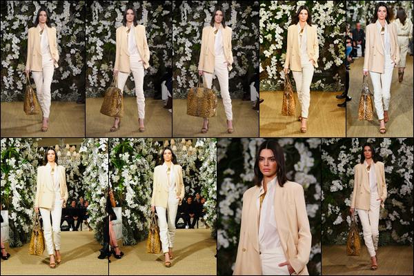 15.02.2017 ─ Kendall Jenner a défilé pour le styliste Ralph Lauren, collection automne/hiver, étant, à New-York.Après ça, elle s'est rendue avec Bella Hadids manger au McDonalds puis a ensuite été photographiée arrivant et quittant son hôtel. Sa tenue est top.