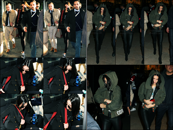 21.02.2017 ─ Kendall Jenner a été photographiée alors qu'elle arrivait à l'aéroport Heathrow, étant dans Londres.La belle brunette s'est envolée pour Milan en Italie puisqu'elle est arrivée quelques heures plus tard à l'aéroport puis à son hôtel, sa tenue est un top