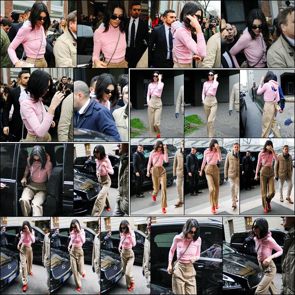 23.02.2017 ─ Kendall Jenner a défilé pour la marque Fendi, collection automne/hiver se déroulant dans Milan, IT.Puis après le défilé, la belle a été photographiée quittant le défilé. Concernant ces tenues, j'aime assez c'est donc deux beau top de ma part... Avis ?!