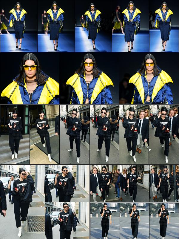 23.02.2017 ─ Kendall Jenner a défilé, pour la marque « Versace » collection automne/hiver, étant, dans Milan, IT.Kendall a ensuite été photographiée quittant le défilé pour se rendre Prada pour le quitter plus tard. Concernant sa tenue, c'est un beau top pour moi.