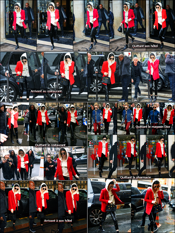 01.03.2017 ─ Kendall Jenner a été photographiée arrivant, puis, quittant l'hôtel Four Seasons, étant, dans Paris.Entre deux, Kendall a été photographiée arrivant puis quittant le restaurant L'avenue, puis au magasin Dior, ainsi qu'à une pharmacie.. C'est un top !