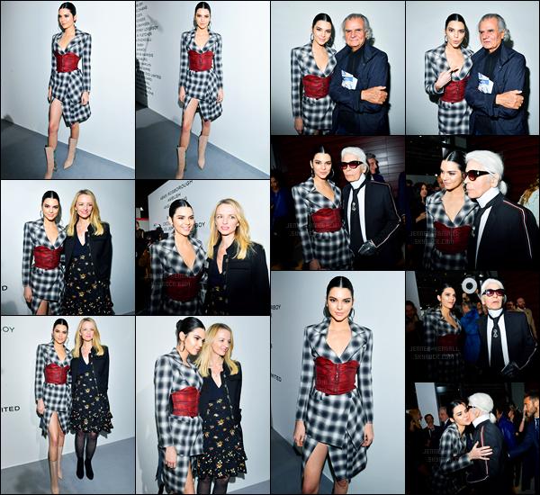 02.03.2017 ─ Kendall Jenner était présente, lors du cocktail pour « LVMH PRIZE 2017 », se déroulant, dans Paris.Evidemment, Kendall J. a posée avec Karl Lagarfield. Un peu plus tôt, elle a été vue quittant son hôtel puis arrivant à la soirée.. Sa tenue est un top !