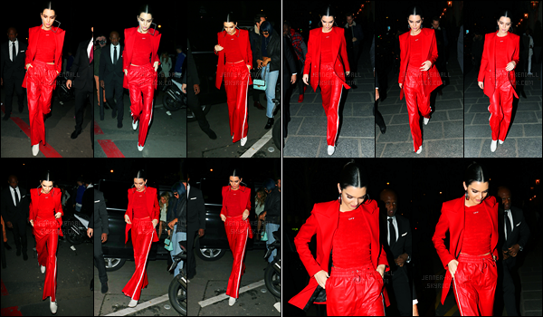 02.03.2017 ─ Kendall Jenner était présente lors du défilé «Off White Fashion», qui se déroulait dans Paris, FranceKendall J. a ensuite été photographiée dans les rues de Paris puis retournant à son hôtel. Concernant sa tenue, c'est un petit bof de ma part.. Et vous?