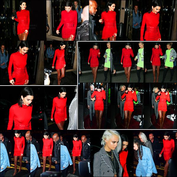 04.03.2017 ─ Kendall Jenner a été photographiée, alors, qu'elle quittait son hôtel « George V », étant dans Paris.Un peu plus tard, notre belle Kendall a été photographiée alors qu'elle arrivait puis quittait l'hôtel Le Royal Monceau... Concernant sa tenue, beau top