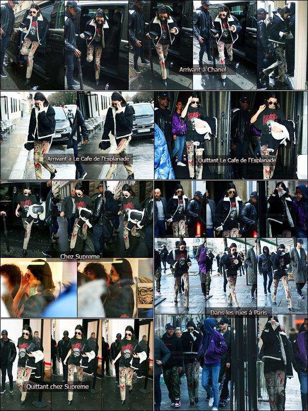 05.03.2017 ─ Kendall Jenner a été photographiée pendant qu'elle arrivait au magasin «Chanel», étant, dans Paris.Grosse journée pour Kendall qui s'est ensuite rendue à Le Cafe de l'Esplanade puis chez Supreme puis dans les rues de Paris... Sa tenue est un bof !