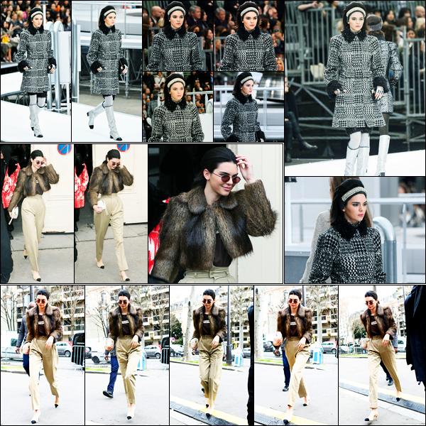 07.03.2017 ─ Kendall Jenner a défilé pour la marque «Chanel», collection fall/winter, pour la FW, étant dans Paris.Je ne suis pas du tout fan du défilé pour ma part... La belle a ensuite été photographiée quittant le défilé pour se rendre à un autre par la suite ! Top !
