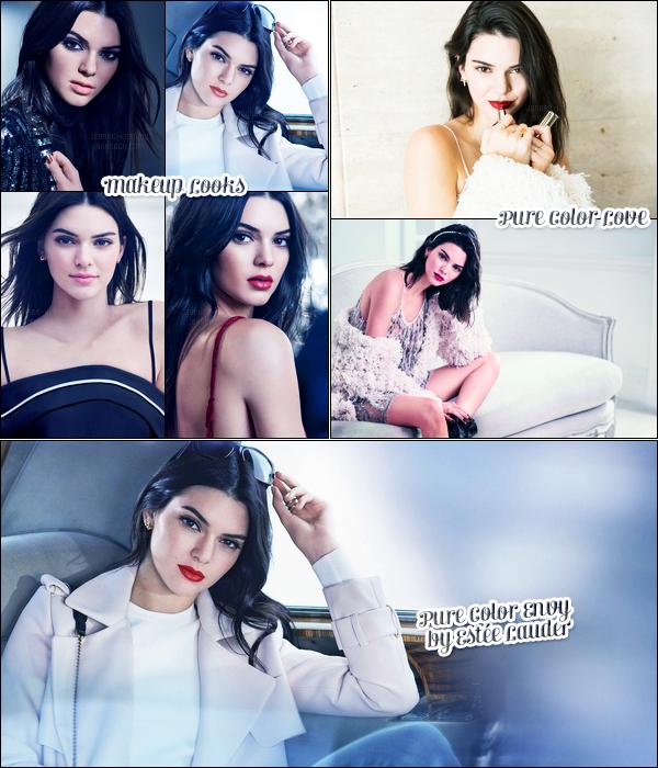 Découvrez trois photoshoot pour la marque « Estée Lauder » de Kendall J. !