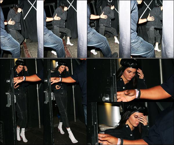 21.04.2017 ─ Kendall Jenner a été photographiée arrivant puis quittant The Nice Guy, étant dans West Hollywood.La belle mannequin s'est donc ensuite rendue au restaurant. Nous avons peu de photos... Concernant sa tenue, c'est un flop de ma part... Et vos avis?