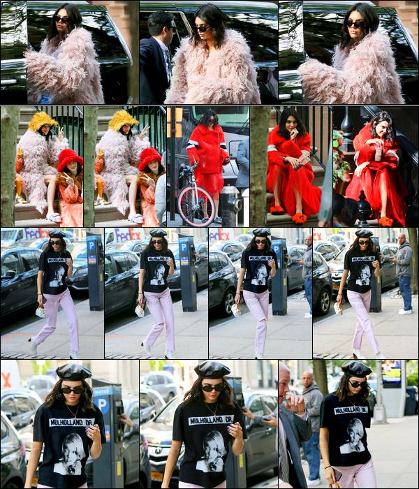 02.05.2017 ─ Kendall Jenner a été photographiée alors qu'elle arrivait sur le set d'un photoshoot, étant à Tribeca.La belle a ensuite été photographiée pendant le photoshoot puis plus tard arrivant à l'appartement de Kanye West.. Concernant ces tenues, c'est top !