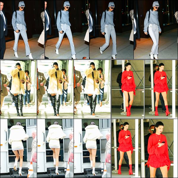 03.05.2017 ─ Kendall Jenner a été photographiée, alors, qu'elle quittait son appartement étant dans New-York C.Dans la journée, la belle K. a été photographiée sur le set d'un photoshoot toujours à New-York City. Concernant ces tenues, c'est assez jolie, un top !