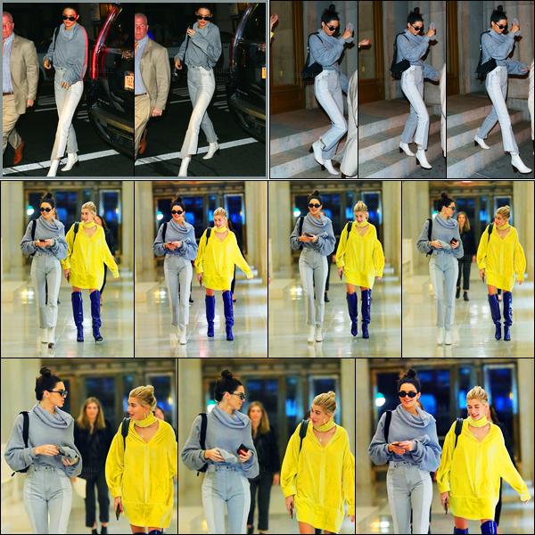 03.05.2017 ─ Kendall Jenner a été photographiée arrivant puis quittant le restaurant « Nobu », étant à New-York.C'est en compagnie de son amie, la mannequin, Hailey Baldwin, que la brunette K. a été photographiée. Concernant sa tenue, c'est un très beau top !