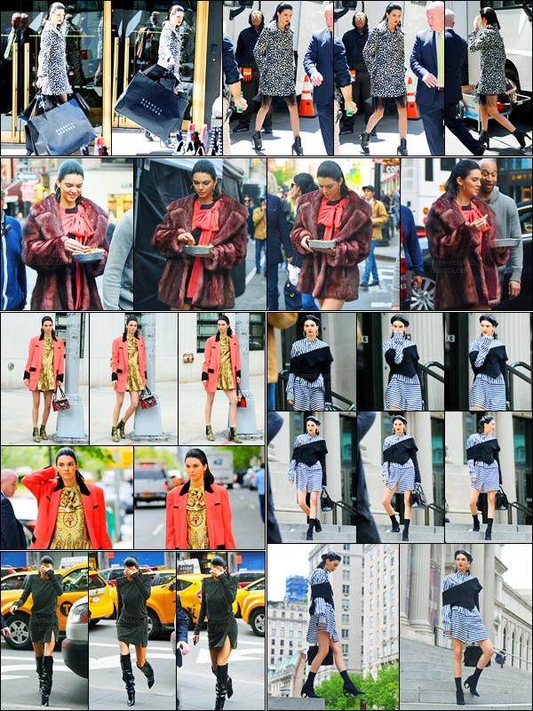 04.05.2017 ─ Kendall Jenner a été photographiée alors qu'elle était sur le set d'un photoshoot étant à New-York.Décidément la belle K. enchaîne les photoshoot dans la ville de New-York C. K. a ensuite été photographiée arrivant au bâtiment Chrysler pour un shoot.