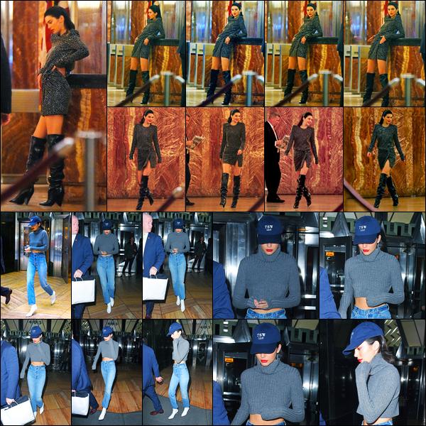 04.05.2017 ─ Kendall Jenner a été photographiée alors qu'elle était sur le set d'un photoshoot étant à New-York.Et encore un autre photoshoot pour la belle brunette K. Elle a ensuite été photographiée quittant les lieux de son nouveau shoot... Sa tenue est un  top !