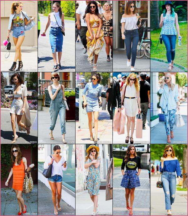 Qui porte le mieux la tenue de l'été parmis les 15 belle vedettes ci-dessous?