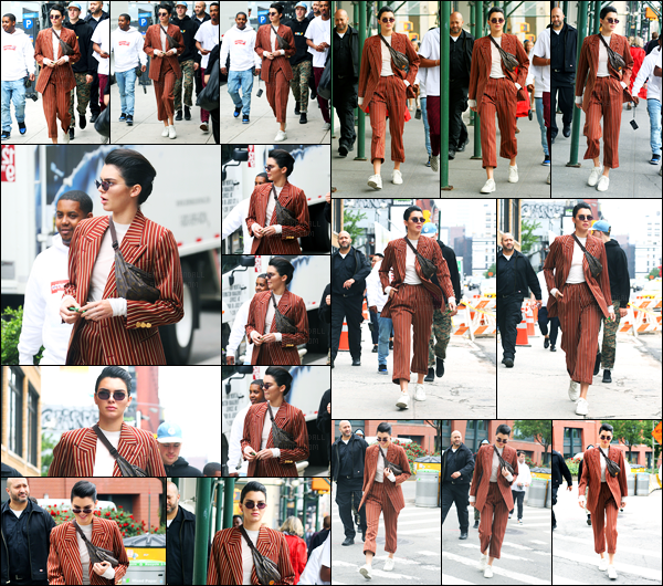 05.06.2017 ─ Kendall Jenner a été photographiée pendant qu'elle se promenait, dans les rues étant à Manhattan.La belle mannequin a finit sa journée dans les rues de Manhattan. Concernant sa tenue, je ne m'y fait pas. Je n'aime pas du tout, c'est donc un flop..