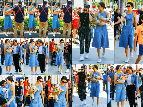 18.06.2017 ─ Kendall Jenner a été photographiée, alors, qu'elle arrivait à l'événement Rodeo Drive à Beverly Hills.La belle mannequin était en compagnie de sa petite soeur, Kylie Jenner et Caitlyn. Concernant sa tenue, c'est un beau top de ma part personnellement