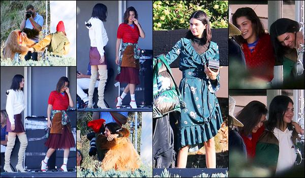 19.06.2017 ─ Kendall Jenner a été photographiée alors qu'elle était sur le set d'un photoshoot, dans Los Angeles.C'est en compagnie de la belle mannequin Bella Hadid, que Kendall J. a pris la pose. Concernant la tenue, c'est simple mais c'est un bof de ma part !