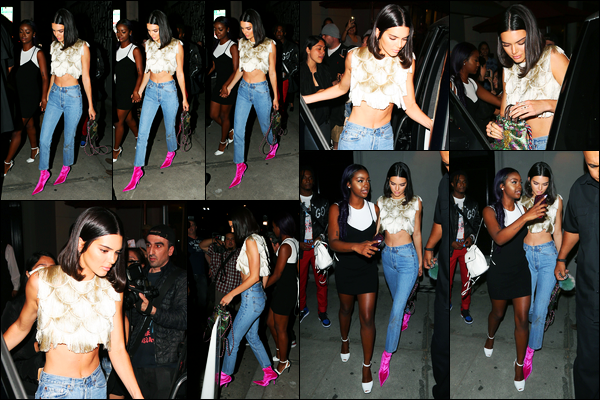 25.06.2017 ─ Kendall Jenner a été photographiée alors qu'elle quittait le restaurant « Craig's », à West Hollywood.Après quelques jours sans nouvelles, la belle a repointée le bout de son nez... Concernant sa tenue, c'est un beau top de ma part ! Et vous, vos avis ?