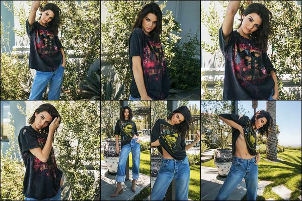 Découvrez le photoshoot pour « Kendall + Kylie - Vintage Tee » de Kendall !