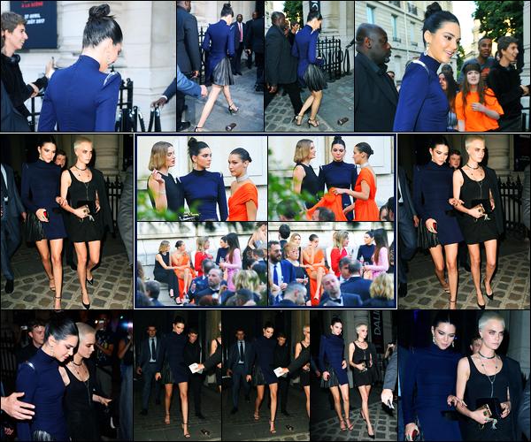 04.07.2017 ─ Kendall Jenner a été photographiée arrivant puis quittant le «Vogue Party» étant dans Paris, France.Elle ne s'arrête plus ces jours-ci, et cette fois-ci c'est pour se rendre à une soirée ! Concernant sa tenue, pour ma part, c'est un jolie top ! Vous, vos avis ?