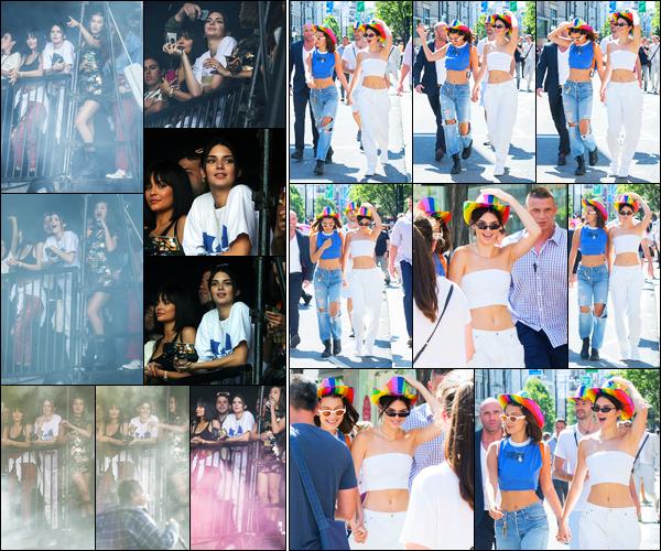 08.07.2017 ─ Kendall Jenner a été photographiée alors qu'elle était à la « Pride Parade », étant dans Londres, UK.La belle K. était en compagnie de son amie, la mannequin Bella Hadid, lors de cette parade... Concernant sa tenue, c'est un beau top de ma part, perso !
