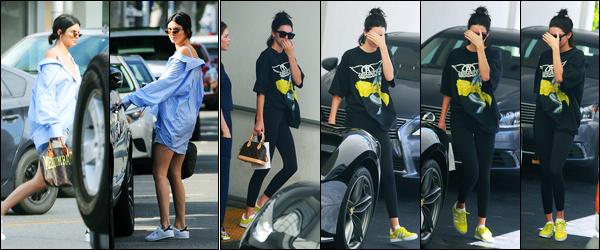 20.07.2017 ─ Kendall Jenner a été aperçue, alors, qu'elle quittait le cabinet d'un dermatologue dans Beverly Hills.La veille, la belle Kendall a été photographiée alors qu'elle se promenait dans les rues de Beverly Hills.. Concernant ses tenues, c'est deux tops pour moi !