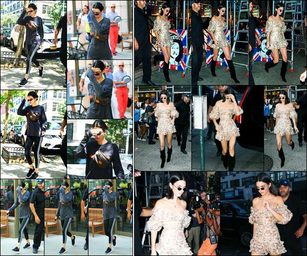 01.08.2017 ─ Kendall Jenner a été photographiée alors qu'elle se promenait dans les rues, étant, dans New-York.Un peu plus tard, la belle mannequin a été photographiée faisant du shopping chez « Search & Destroy » avec Kim Kardashian. Concernant sa tenue, top