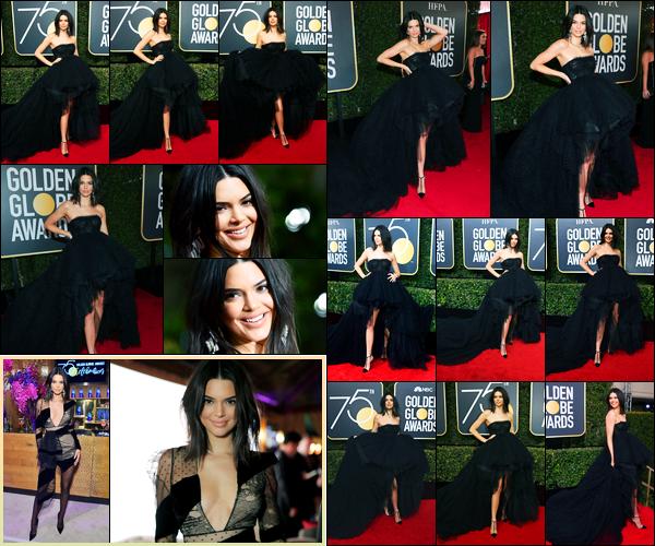 07.01.2018 ─ Kendall Jenner était présente lors de la cérémonie «Golden Globe Awards» étant dans Beverly Hills.C'est dans une superbe tenue, une robe noire, que la belle est apparue sur le red carpet ! Evidemment, elle s'est rendue aussi à l'after-party. Deux tops !