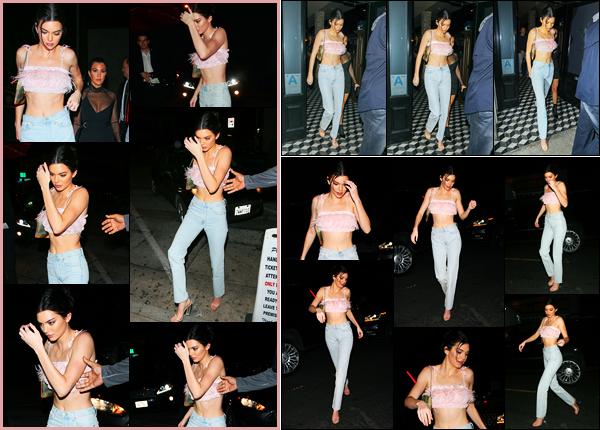 -18/02/2018- ─ Kendall Jenner a été photographiée arrivant au restaurant « Craig's » avec Kourtney au West Hollywood !Puis la belle mannequin a été photographiée quittant le restaurant avec sa soeur puis arrivant au « Avenue Nightclub »... Sa tenue est un top pour moi !
