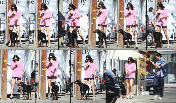 -23/04/2018- ─ Kendall Jenner a été photographiée, alors, qu'elle se promenait dans les rues étant dans West Hollywood.La belle mannequin Kendall Jenner était en compagnie de son chien dans les rues en se promenant ! Concernant sa tenue, c'est un petit bof de ma part !