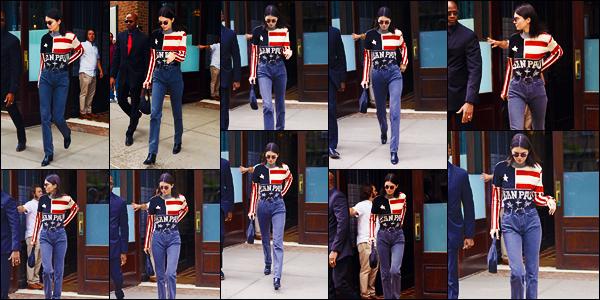 -22/05/2018- ─ Kendall Jenner a été photographiée, alors, qu'elle quittait le « Greenwich Hotel » étant dans New-York C.Enfin des news de la belle mannequin Kendall J. depuis quelques jours sans news ! Concernant la tenue de celle-ci, c'est un très jolie top pour ma part !