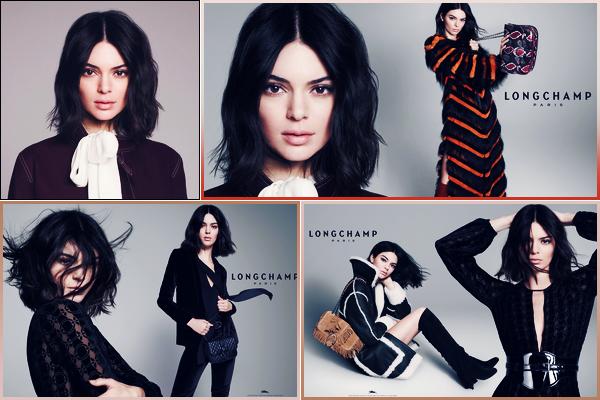 Kendall prend la pose pour la marque «Longchamp» pour la campagne 2018