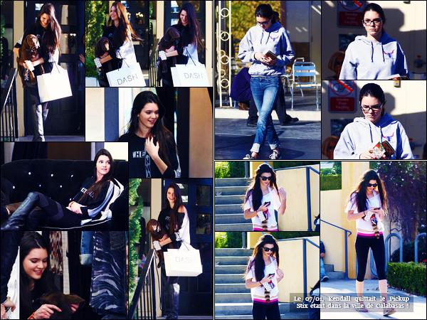 -18/01/2012- ─ Kendall Jenner a été photographiée alors qu'elle faisait du shopping chez « Dash » étant dans Los AngelesPlus tard, la belle K. a été photographiée se promenant dans les rues de la ville de Calabasas... Concernant sa tenue, c'est deux petits top pour ma part.