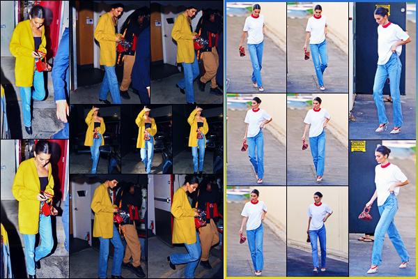 -08/10/2018- ─ Kendall Jenner  a été photographiée, alors, qu'elle quittait le restaurant « Craig's » dans West Hollywood !La mannequin Kendall Jenner a été photographiée, plus tôt dans la journée, quittant un studio à Los Angeles ! Concernant sa tenue, c'est des beaux tops.