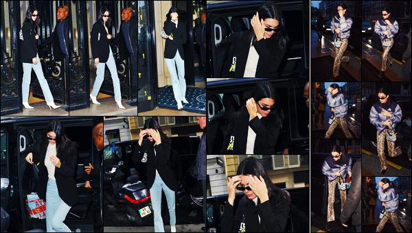 -13/03/2019- ─ Kendall Jenner a été photographiée alors qu'elle quittait son hôtel, qui se situait, dans la ville dans - Paris.La belle mannequin Kendall se rendait aux bureaux de la marque « Longchamp » dans Paris ! Le lendemain, elle a été arrivant à son hôtel. C'est des tops