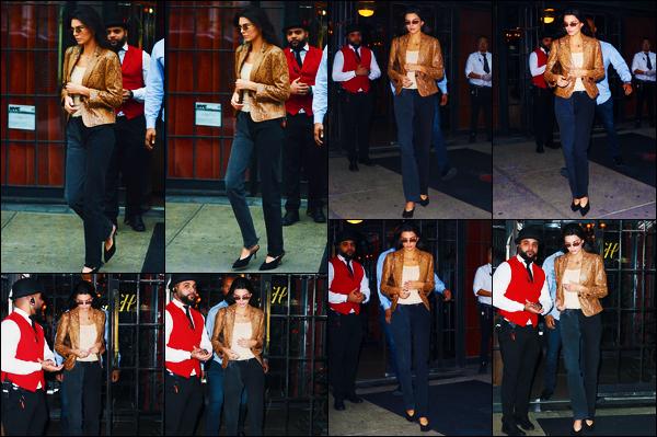 -09/05/2019- ─ Kendall Jenner a été photographiée alors qu'elle quittait l'hôtel « The Bowery Hotel », étant, à New-York !La belle mannequin a donc quittée son hôtel en vitesse pour fuir les paparazzis sûrement ! Concernant la tenue de celle-ci, c'est un petit top de ma part !