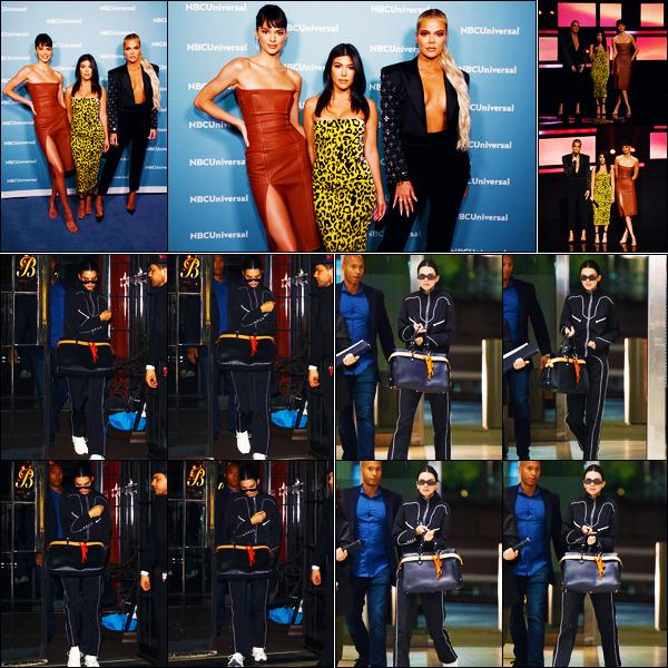 -13/05/2019- ─ Kendall Jenner était présente : « NBCUniversal Upfront Presentation » à Four Seasons Hotel à New-York.La belle mannequin a ensuite été vue quittant son hôtel « The Bowery Hotel » puis arrivant à l'aéroport « JFK » ! Ses tenues sont des bofs de ma part !