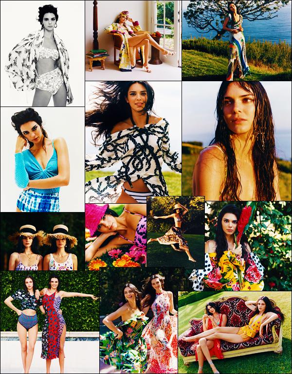 '-● MAGAZINE- Kendall Jenner a pris la pose pour « Vogue US » étant pour le mois de Juin !